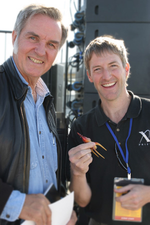 Burt Rutan and Erik Lindbergh