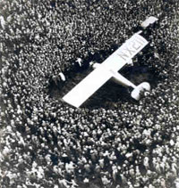Lindbergh arrives in Paris